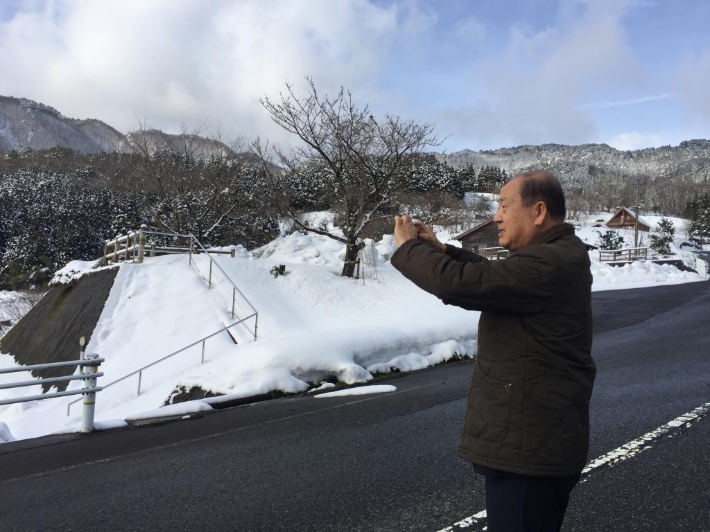 雪の景色に